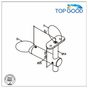 Side Mounting Handrail Support with Glass Connector pictures & photos