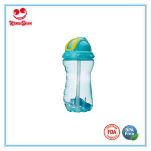 BPA Free Plastic PP Straw Sport Water Bottle 12oz pictures & photos