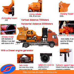 Portable Diesel Concrete Mixer Pump