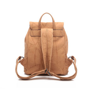 Casual Drawstring Buckle Fashion Women Backpack (MBNO043026) pictures & photos
