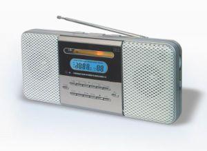 Slim Alarm Clock CD Radio Player (W-CD330)