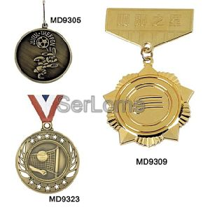 Metal Medal / Silver Medal With Ribbon (MD9325)