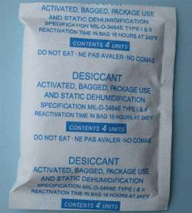 4 Units Activated Clay Desiccant in Tyvek Bag, Meet Mil-D3464e pictures & photos