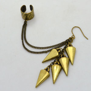 Vintage Gold-Color Tassel Link Chain Cuff Earrings New Design Jewelry pictures & photos