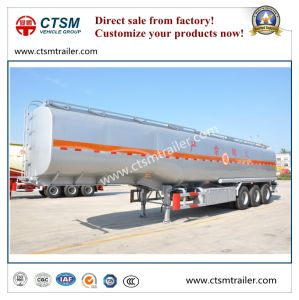 45cbm Liquid Oil Storage Stainless Steel Tank Semi Trailer pictures & photos