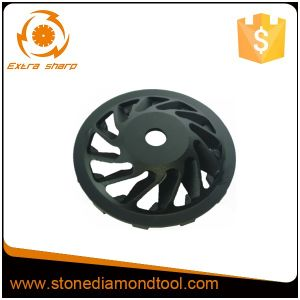 """Diamond 7"""" Cup Wheel with 22.23 Thread - 12 Segments pictures & photos"""