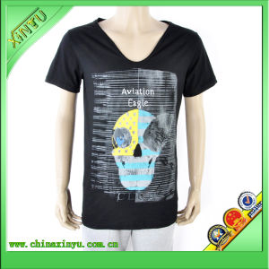 Hot Sell Cheap Men T Shirt with Heat Transfer Printing pictures & photos