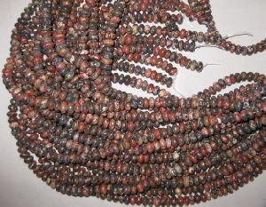 Leopardskin Jasper Roundel Beads