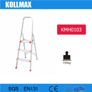 Household Aluminium Folding 3 Step Ladder pictures & photos