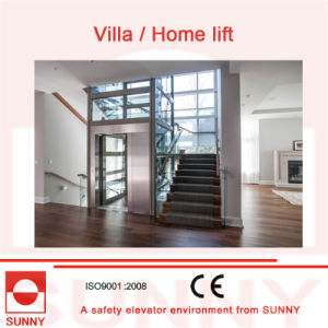 Safe Operation, Stable Quality Villa Elevator with All-Glass Enclosed Design, Sn-EV-033 pictures & photos
