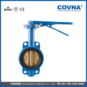 Medium Temperature Ductile Iron Wafer Butterfly Valve pictures & photos