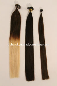 Fusion Keratin with U/I/V-Tip, Flat-Shaped Pre-Bonded Hair Extension pictures & photos