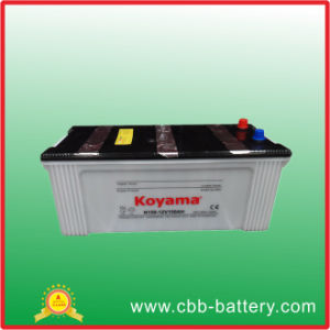 JIS Standard Heavy Duty Vehicle Battery Dry Cell Rechargeable Battery N150 pictures & photos