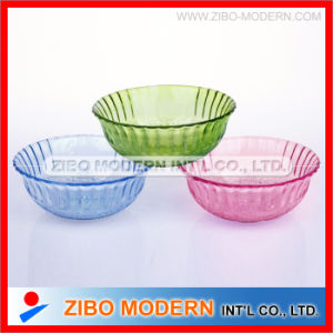 Colored Spray Glass Salad Bowl Fruit Glass Bowl Decorative Bowl pictures & photos