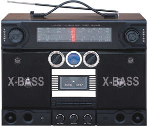 Professional Multi-Band Portable Radio Cassette Recorder Player With Wooden Housing (AY-3700C)