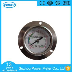 60mm 2.5′′ Stainless Steel Oil Filled Cmhg Manometer with Flange pictures & photos