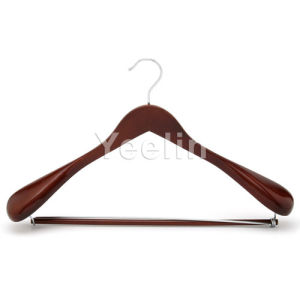 Luxury Wooden Suit Hanger with Round Pants Bar (YWD01) pictures & photos