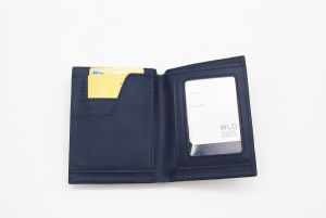 Casual High Quality PU Leather Biofold Men Wallet Mwt13 pictures & photos
