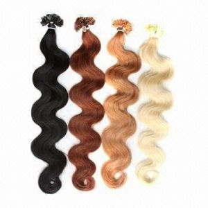 Brazilian Human Virgin Hair Remy Keratin Extension pictures & photos