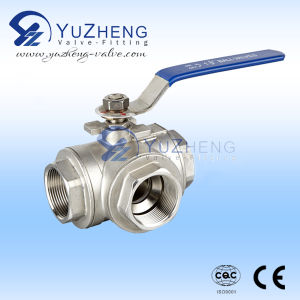 304# Stainless Steel 3 Way Ball Valve Manufacturer pictures & photos