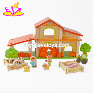 New Hottest Pretend Play Miniatures Wooden Kids Farm Toys with Farmer and Animals W06A255 pictures & photos