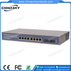 8 Port Full Gigabit Poe and 2 Sc Poe Switch (POE0802SCB-3) pictures & photos