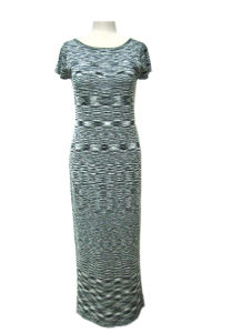 Ladies Knitted Marled Design Long Dress Sweater