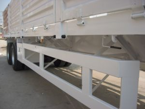 40 Feet 2 Axles Drop Side Semi Trailer pictures & photos