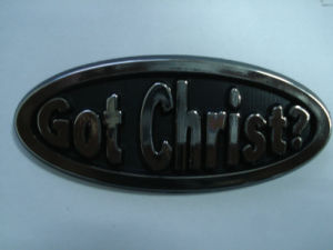 Customized Christ Emblem with High Quality Surface pictures & photos