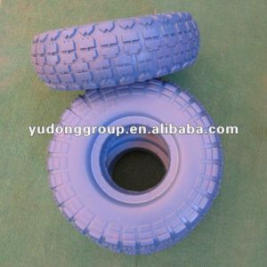 PU foam wheel 3.50-4 3.50-8 flat free tyre not for highway use pictures & photos