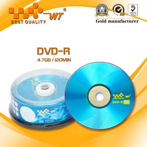 High-Speed Blank DVD-R with 16x Speed, 4.7GB Capacity, 120min Time (WT DVD-R 16x 002)