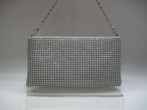 Evening Mesh Shoulder Bag with Crystal Design pictures & photos
