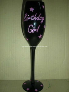 Hand Painted Gift Champagne Glass Used for Aniversary Day (B-GG02) pictures & photos