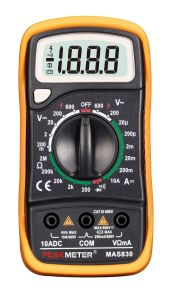 MAS830 2000 Counts LCD Display Low Price Digital Multimeter