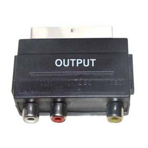 Scart Plug to RCA Jack Switched Adapter pictures & photos