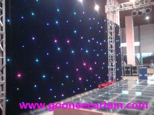 DJ Stage Background Decoration RGB Star Curtain