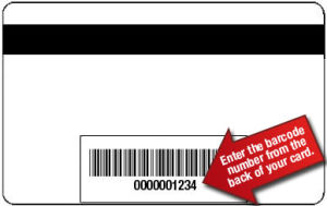 White Barcode Card (LBD-B-04)