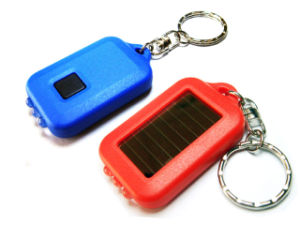 Solar Flashlight Key Chain,LED Light,LED Key Chain, Great for Promotion Gift