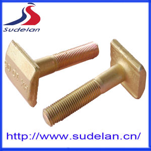ISO 898-1 M22*250 Yellow Zinc 5.6 Square Head T-Bolt