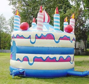 Inflatable Birthday Cake Moonwalk (CB-1015) pictures & photos
