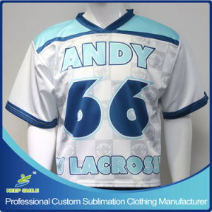 Custom Sublimation Printing Unisex Lacrosse Team Shirt for Lacrosse Game pictures & photos