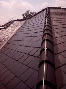 Beautiful Ancient Gloss Rectangle Slate Roofing