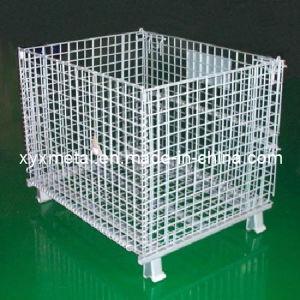 Galvanized Steel Folding Warehouse Storage Cage pictures & photos