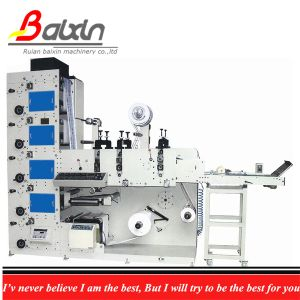 Mini Type Flexo Printing Machine Printing Stick Label pictures & photos