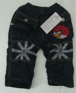 New Fashion Child Jeans Cartoon Birds