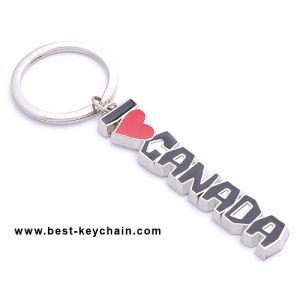 Custom Metal Souvenir Keyring Keyholder Canada Letter Keychain (BK11662) pictures & photos