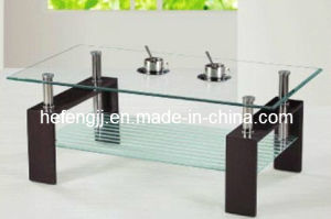 Modern High Gloss MDF Glass Coffee Table pictures & photos