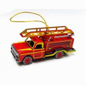 Fire Engine Ornament Tin Ornament