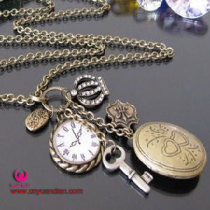 Fashion Photo Box Classic Antique Alloy Jewelry Necklace