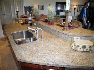 Kashmir Gold Granite Island Top& Vanity Top& Countertop for Kitchen and Bathroom pictures & photos